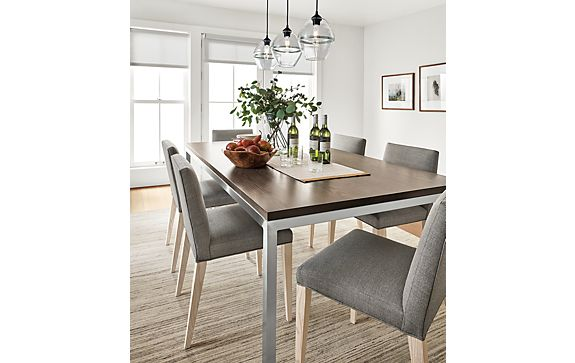 Portica Dining Table with Walnut Top