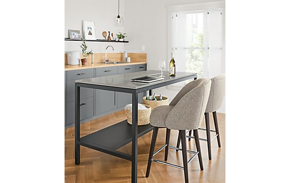 Pratt Counter Table with Cora Counter Stools