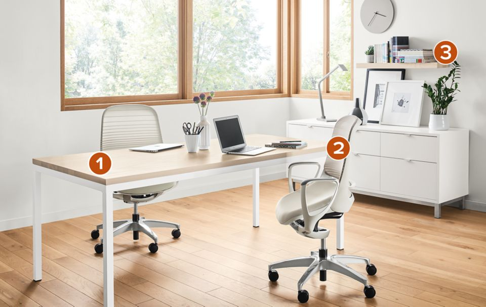 Pratt Desk With Luce Chairs Room Board