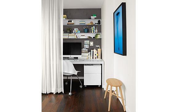 Pratt Table and Milo Rolling File Cabinet