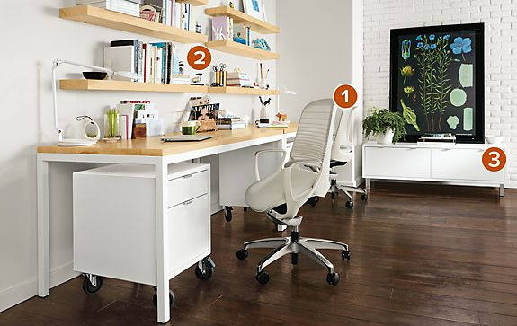 Pratt Desks with Luce Office Chairs