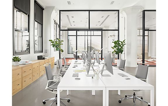 Open Workspace with Pratt Tables & Plimode Chairs