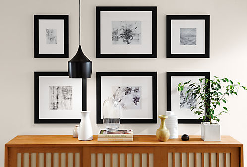 Profile Wide Modern Picture Frames in Black - Modern Picture Frames ...