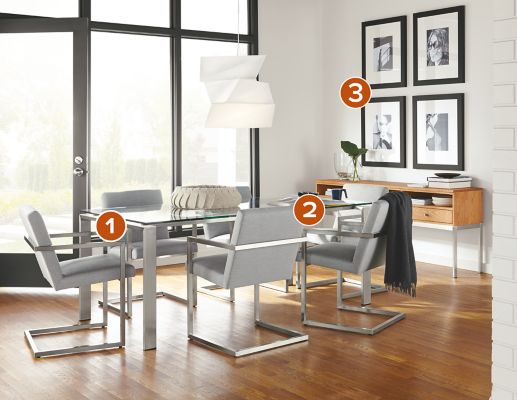 Rand Dining Table with Lira Chairs Modern Dining Room Furniture