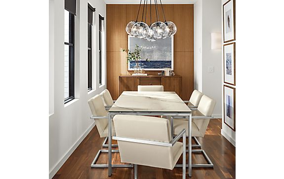 Rand Dining Table with Lira Leather Chairs