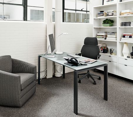 Rand Desk In Natural Steel Office Space