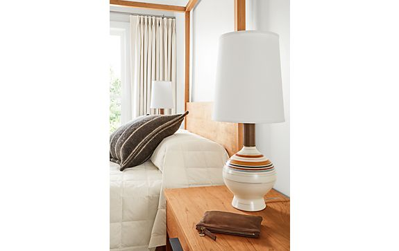 Rayas Table Lamp in Multi-striped Warm