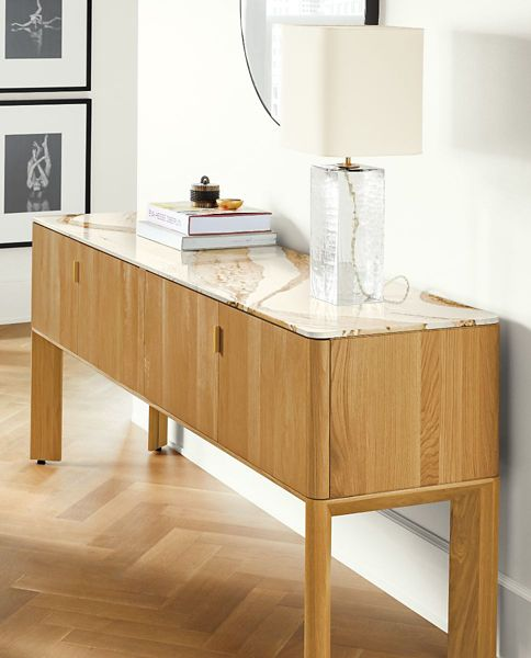 Shop Pren Console Cabinets with Cambria Quartz Tops
