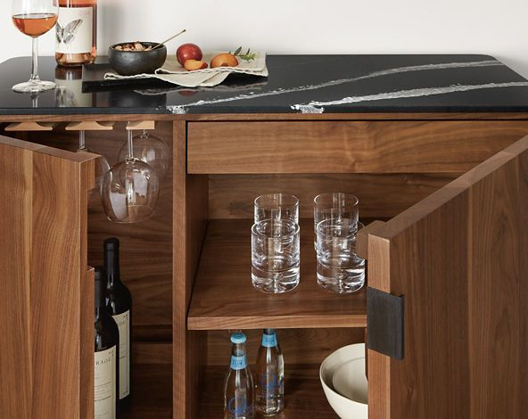 Shop Pren Bar Cabinet with Cambria Quartz Tops