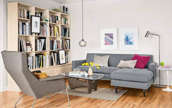Reese Sofa With Reversible Chaise Living Room