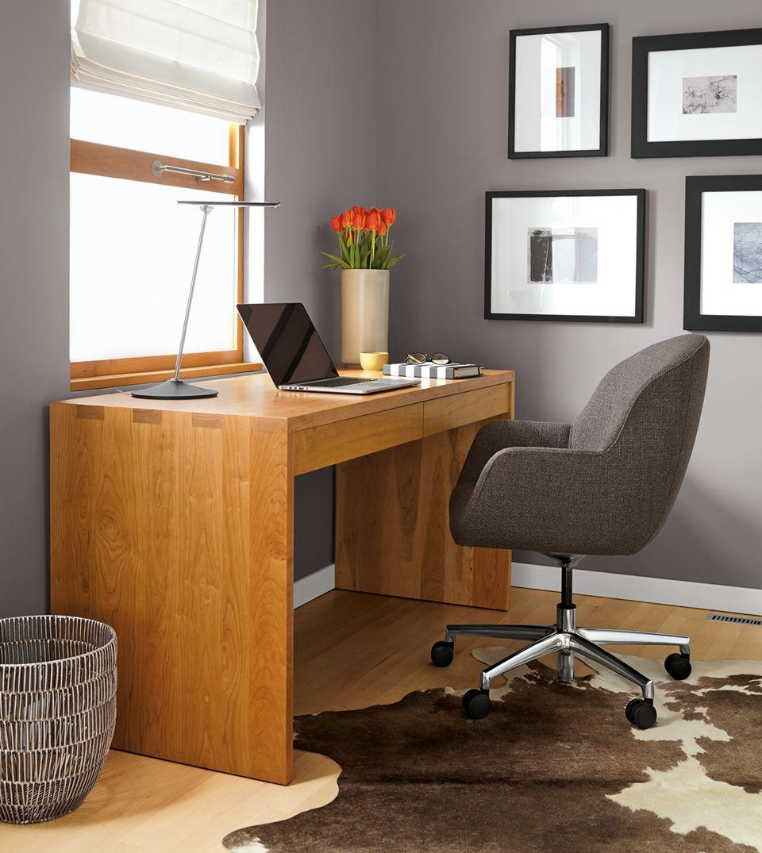 Rowan Desk In Cherry With Nico Chair Room Board