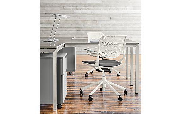 Workspace with Runa Swivel Chair