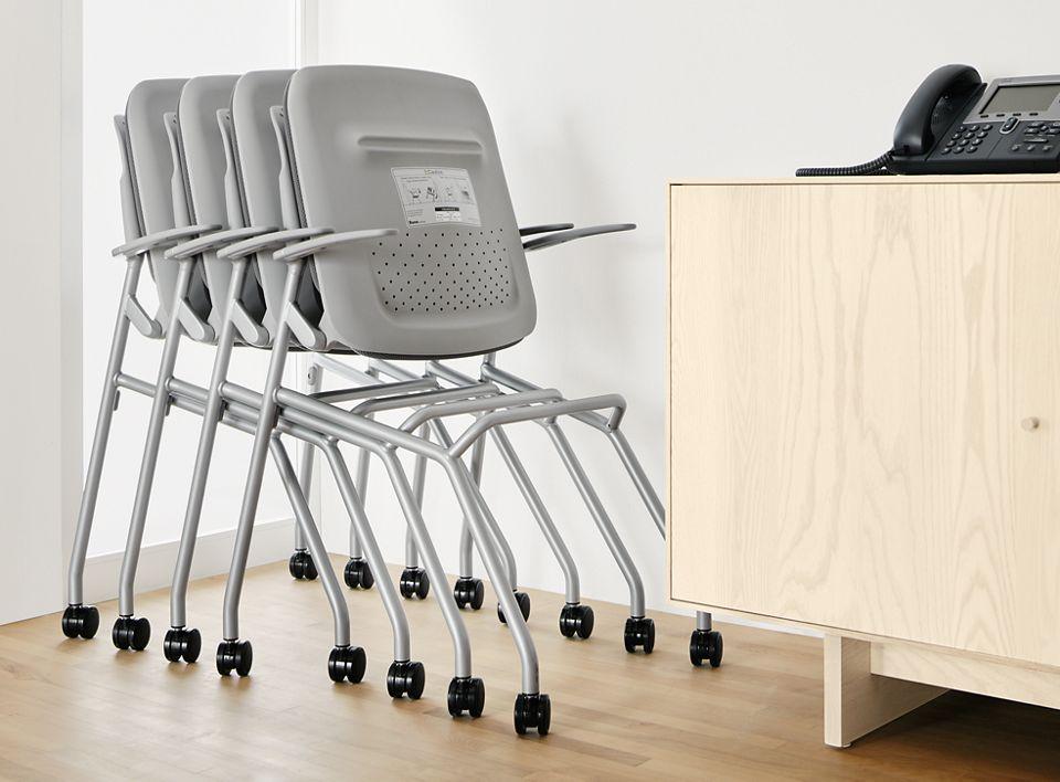 Detail of Runa nesting office chair