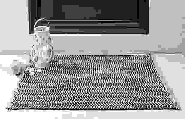Detail of Series rug in navy