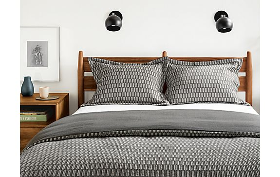 Sheffield Duvet Cover and Shams in Charcoal