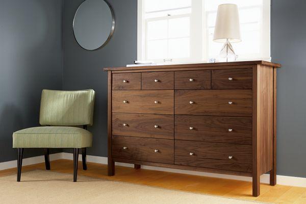 Sherwood Wood Dressers   Modern Dressers   Modern Bedroom Furniture   Room  U0026 Board