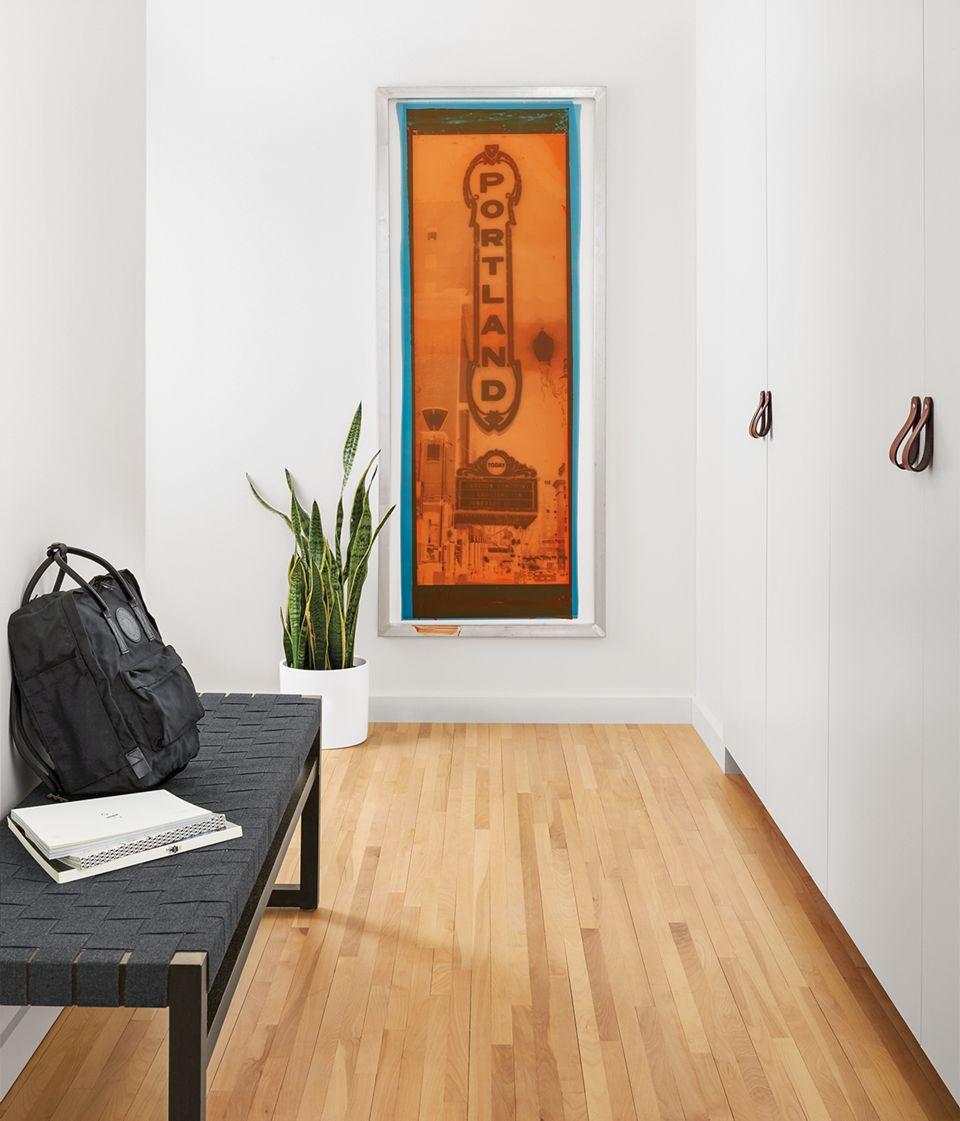 Detail of silkscreen art of Portland