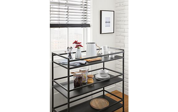 Slim Bar Cart in Graphite