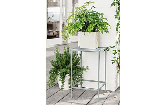 Outdoor Slim End Table with Shore Planters