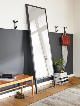 Wall Leaning Mirrors soho natural steel leaning mirror - where to hang mirrors - room