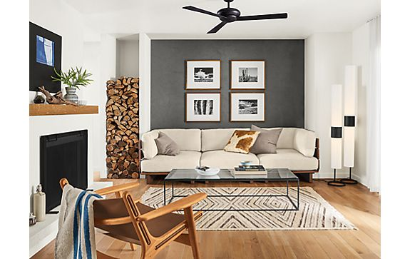 Span Sectional with Lars Lounge Chair