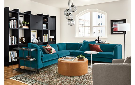 Sterling Sectional in Vance Peacock Living Room