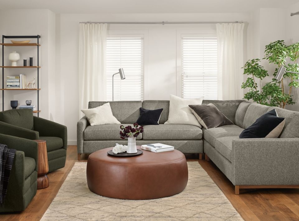 Detail of Stevens three-piece sectional