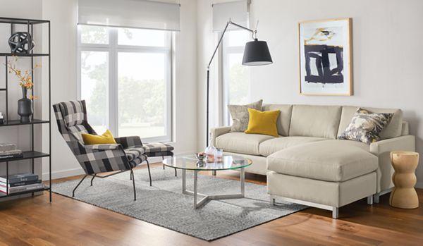 Stevens Sectionals   Modern Sectionals   Modern Living Room Furniture    Room U0026 Board