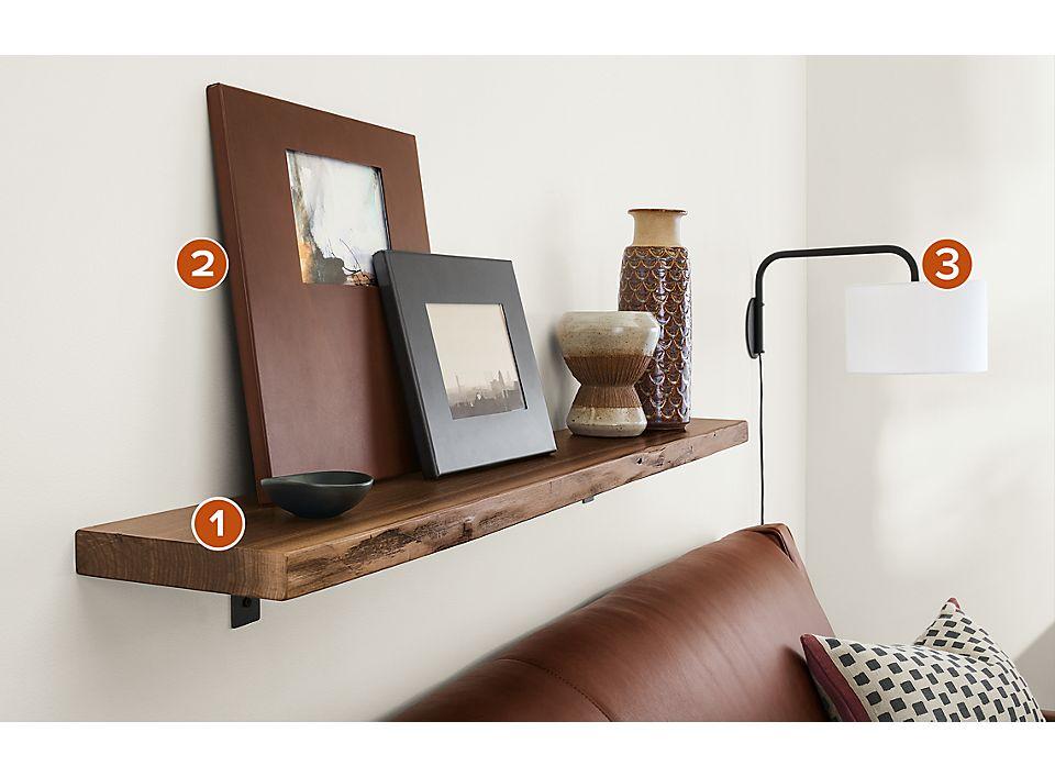 Stowe Wall Shelf in Walnut - Home Decor - Room & Board