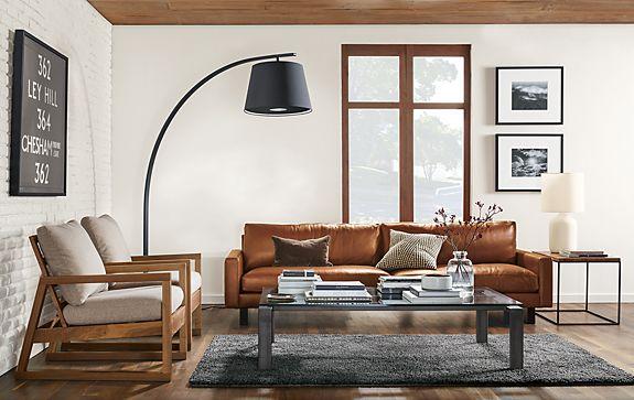 Hess Leather Sofa with Nara Chair