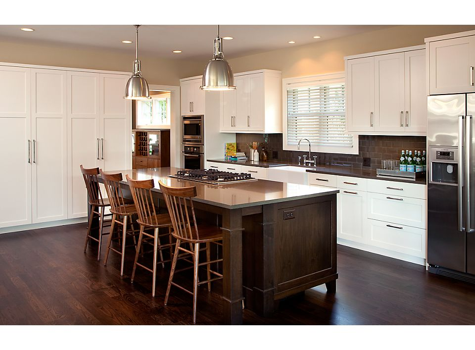 Kitchen Island With Thatcher Counter Stools