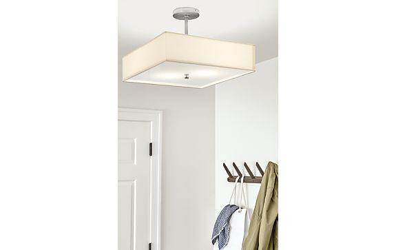 Studio Semi-Flushmount Square Ceiling Light