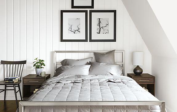 Surrey Blanket and Sateen Bedding in Grey