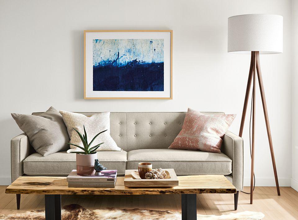 Detail of silkscreen wall art by Chantal Talbot, Marine 2, 2014