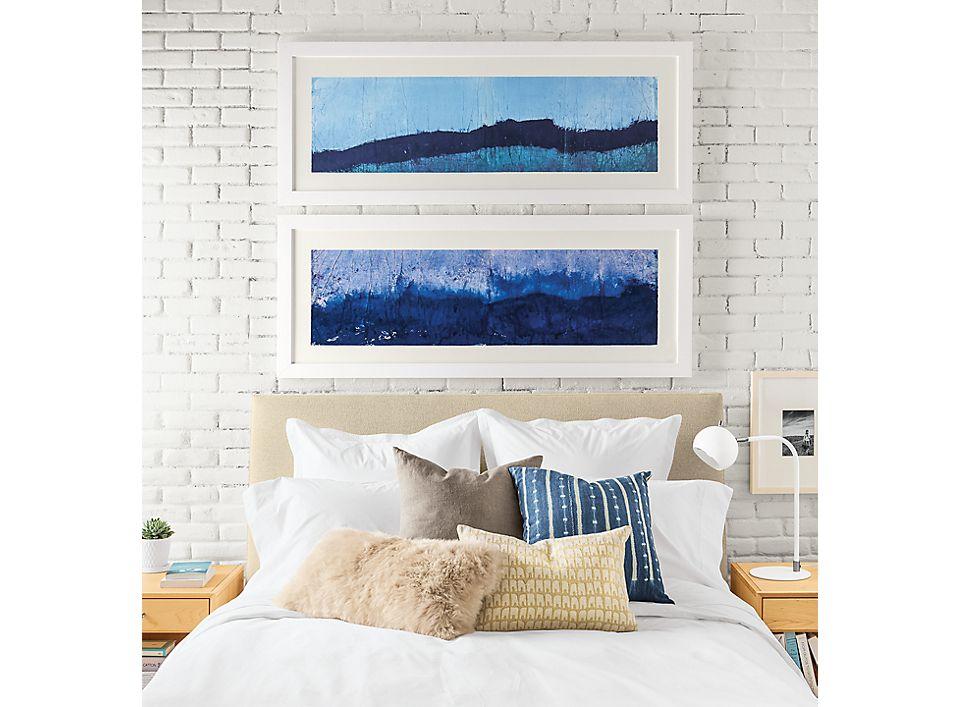 Detail of silkscreen wall art by Chantal Talbot
