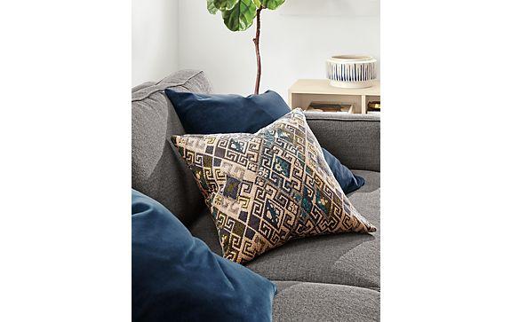 Talish Ink & Indigo Velvet Pillows