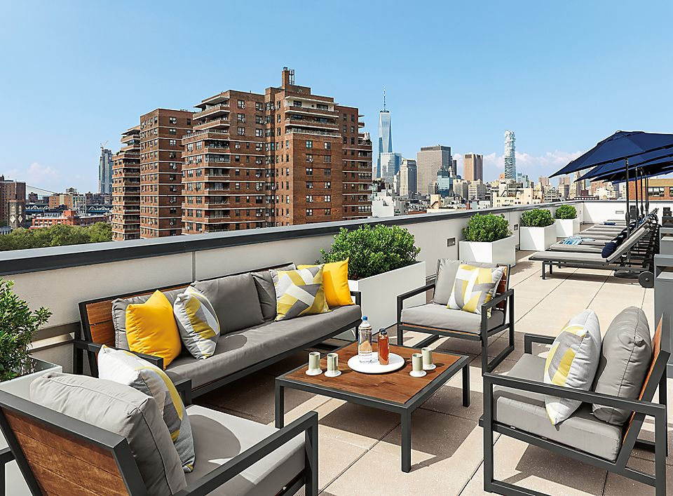 Montego lounge collection on rooftop
