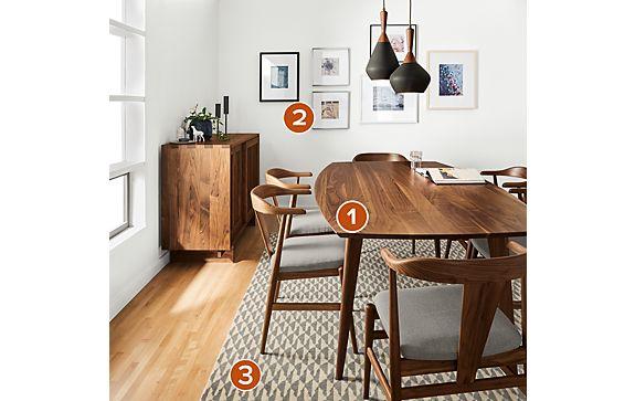 Ventura Dining Table with Kieran Dining Cabinet