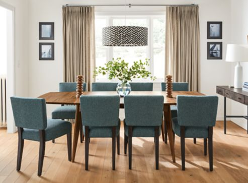 ventura extension table in walnut - modern dining room furniture