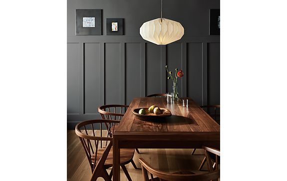 Walsh Dining Table with Soren Chairs in Walnut