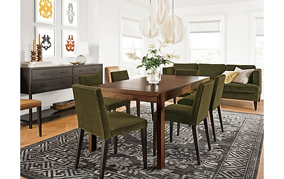 Walsh Extension Table in Walnut with Ava Chairs