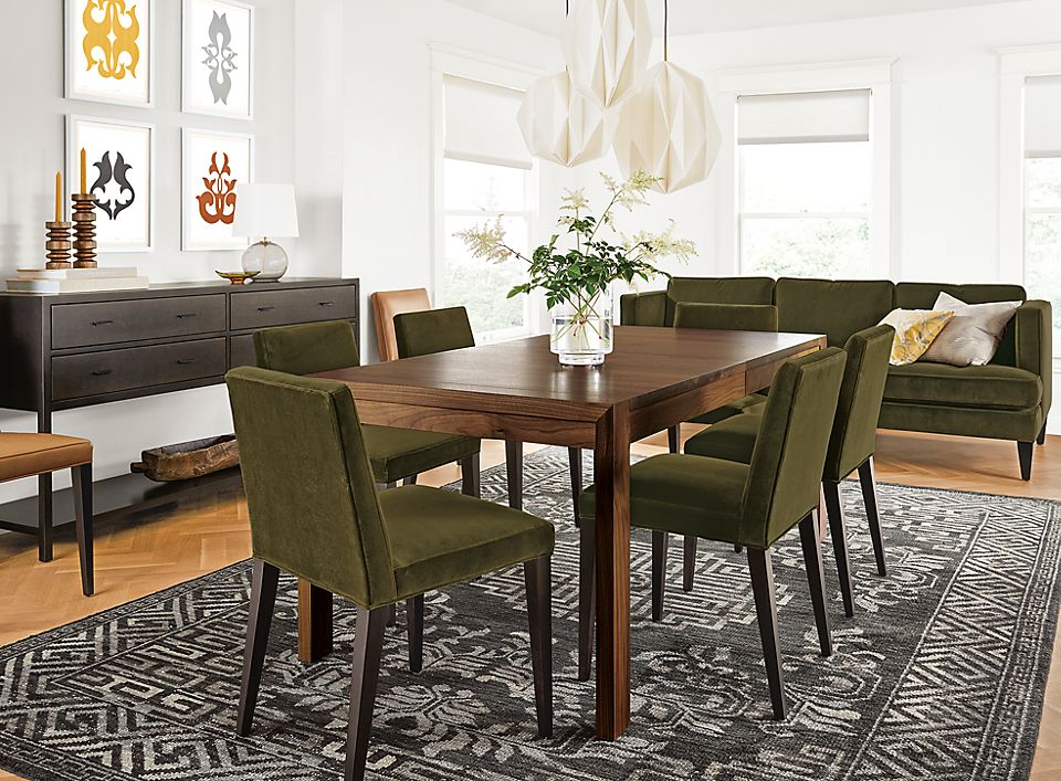 Walsh Extension Table In Walnut With Ava Chairs Room Amp Board