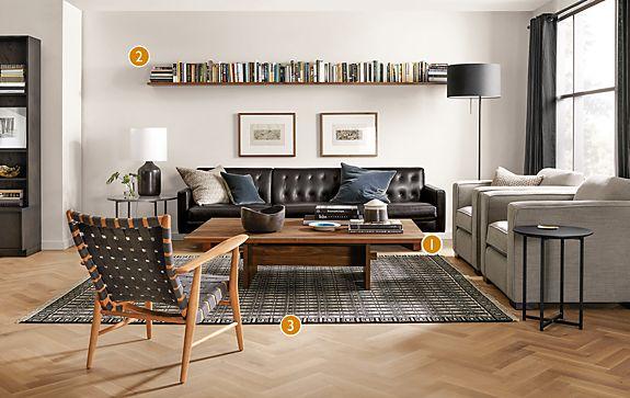 Wells Leather Sofa Room