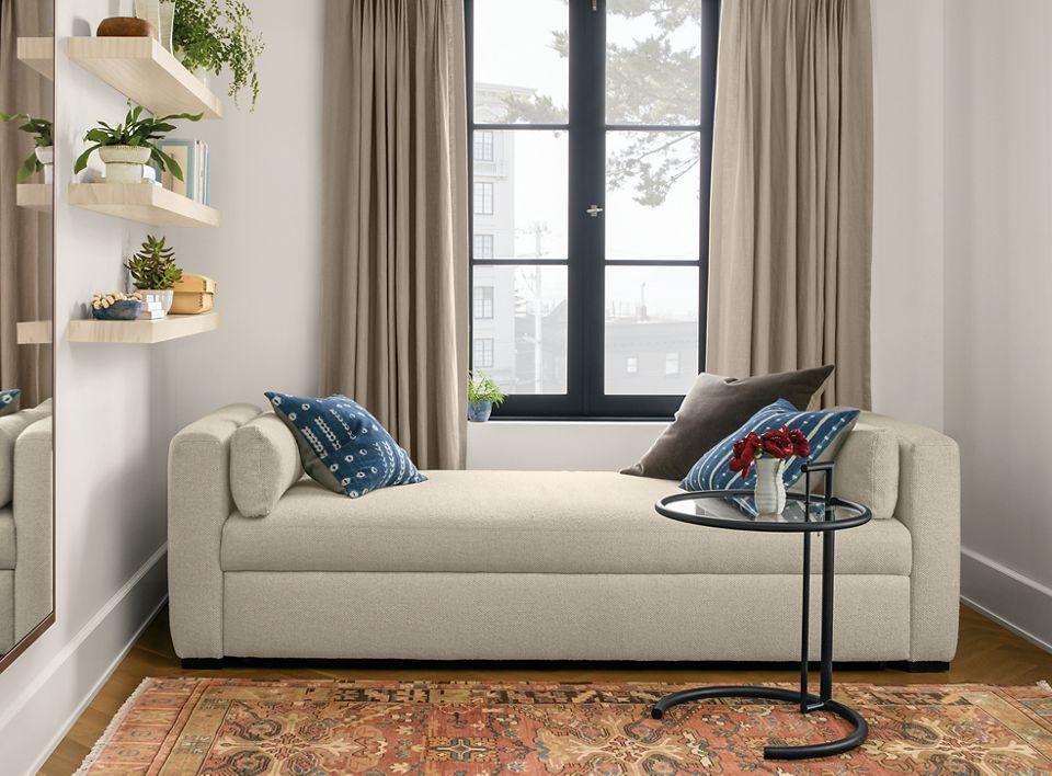 Whitman 86 inch pop-up platform sleeper sofa