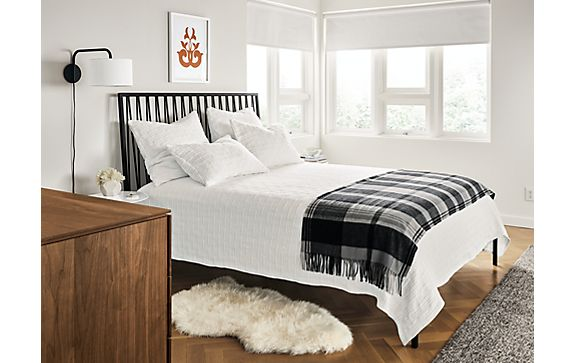 Jennings Bed with Whitmore Brick Bedding