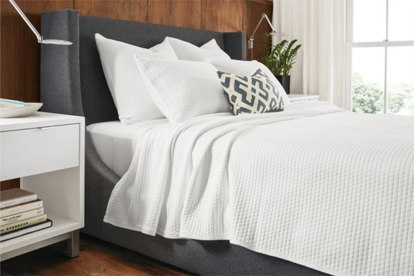 Marlo Upholstered Bed   Modern Beds U0026 Platform Beds   Modern Bedroom  Furniture   Room U0026 Board
