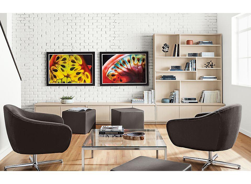 Detail of Dennis Wojtkiewiczs wall art Tomato Series #1