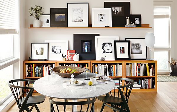 Frame Wall Collage on Mantel Wall Shelves - Frame Wall Ideas - Room ...