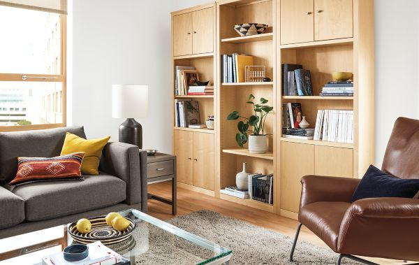 Woodwind Wall Unit in Maple Modern Living Room Furniture Room