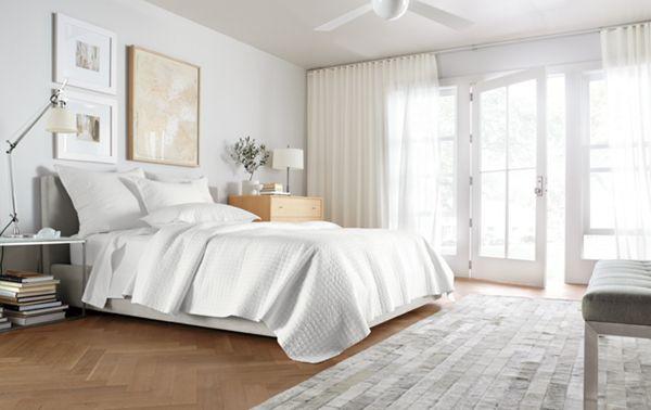 Wyatt Upholstered Bed   Modern U0026 Contemporary Beds   Modern Bedroom  Furniture   Room U0026 Board